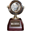 Crystal Globe Desk Clock