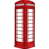 Dry Erase Peel and Stick London Phone Booth 19.75 x 46
