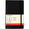Business Planner Daily 2018 Moleskine 5 x 8 Black Softcover