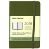 Business Planner Weekly 2018 Moleskine 3.5 x 5.5 Green Hardcover