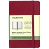 Business Planner Weekly 2018 Moleskine 3.5 x 5.5 Pink Hardcover