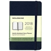 Business Planner Weekly 2018 Moleskine 3.5 x 5.5 Blue Hardcover