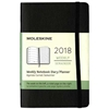 Business Planner Weekly 2018 Moleskine 3.5 x 5.5 Black Softcover