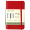 Business Planner Weekly 2018 Moleskine 3.5 x 5.5 Red Softcover