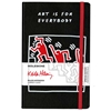 MOLESKINE LIMITED EDITION HARD COVER RULED KEITH HARING NOTEBOOK BLACK LARGE