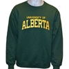 CREWNECK VALUE UNISEX FOREST GREEN GOLD HEATHER TWILL EMBLEM