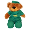 Plush bear with ua scrubs