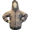 2 TONE SALT PEPPER CHILDS ZIP HOOD