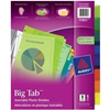 DIVIDER 8 TAB INSERTABLE TRANSLUCENT COLOUR PVC FREE
