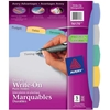 DIVIDER 5 TAB WRITE-ON DURABLE PLASTIC
